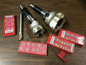 New Shell Mill Lot 90 Degree Cutter Apmt Rpmw Shell Mills W 30 Carbide Insert