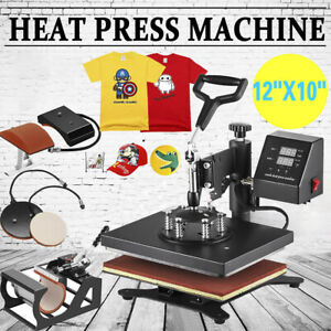 5 In 1 Heat Press Machine Swing Away Digital Sublimation T shirt mug plate Usa