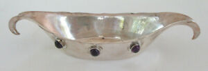 Antique Sterling Silver Bowl With Jewel Decoration By Watson Silver
