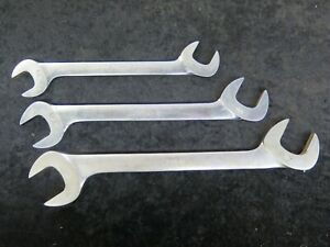 Snap On Sae 7 8 1 1 16 1 1 4 4 Way Angle Head Open End Wrenches Vs 28 34 40