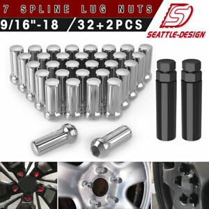 24 Chrome 14x1 5 Stainless Steel Lug Nuts For Chevy Silverado Suburban Avalanche