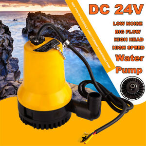 24v 4500l h Submersible Water Pump Electric Clean Drain Dirty Pool Pond Flood