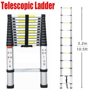 10 5 Ft 11 step Aluminium Multi purpose Telescopic Ladder Extension Steps Tall