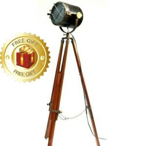 Antique New Marine Ship Searchlight Tripod Nautical Collectible Floor Lamp Stand