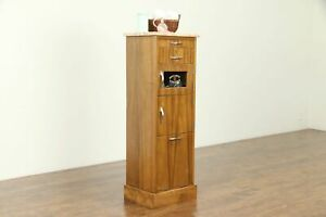 Midcentury Modern Medical Or Bath Vintage Cabinet Marble Top Towel Bin 31333