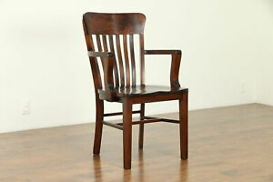 Banker Office Or Library Chair Antique 1910 Heywood Wakefield 31359
