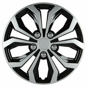 Pilot Universal Fit Spyder Finish 14 15inch Wheel Covers Micro Set Of 4