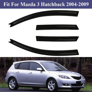 For 04 09 Mazda 3 Hatchback 4dr Window Visor Rain Guard Shield Trim Deflector Us
