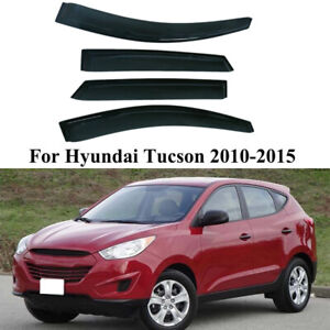 Fit 2010 2011 2012 2013 2014 Hyundai Tucson Window Visor Rain Guards Shield Trim