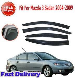 For 2004 2008 2009 Mazda 3 Sedan Window Visor Rain Guard Wind Tint Durable Kit