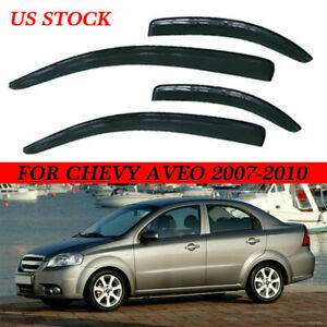Fit 2007 2011 Chevrolet Aveo 4dr Vent Window Visor Rain Guard Weather Shield Kit