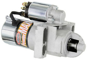 Powermaster Chrome Powermax Starter 168 Chevy Ram Jet 350 502 Staggered 160 Lb