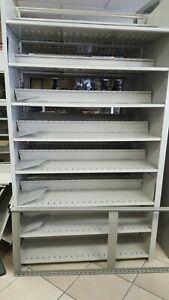 Medical Lab Metal Storage Cabinet With Adjustable Shelves 4 x3 Sections 12 Feet
