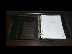 Franklin Covey Monarch Planner Full Grain Leather Brown 1 75 7 Ring