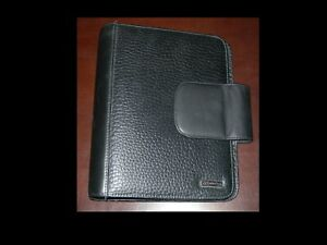 Franklin Covey Black Pebbled Leather Classic Binder 1 25 7 Ring