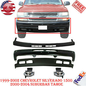 Front Bumper Kit W Fog Light For 1999 2004 Chevy Silverado Tahoe Suburban 1500