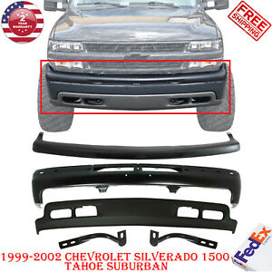 Front Bumper Primed Steel Kit For 1999 2002 Chevy Silverado 1500 Tahoe Suburban