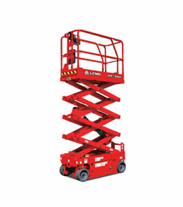 25 Ft Scissor Lift brand New Lgmg As1932e 6 Long 32 W indoor outdoor Use