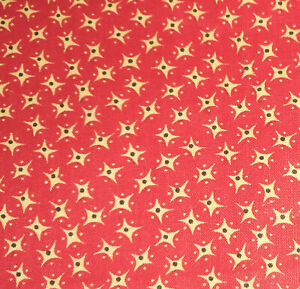 Antique Turkey Red Yellow Calico Cotton Fabric Dolls Quilts Historic Clothing