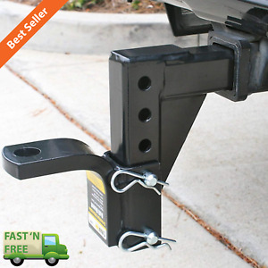 Adjustable Ball Mount Trailer Drop Hitch Tow 2 Receiver Towing System For Cars