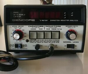 Sencore Lc53 Z Meter Capacitor Inductor Analyzer Tester