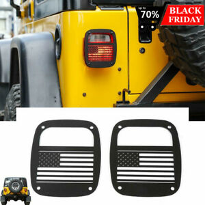 Metal Tail Light Guards Covers Fit Jeep Wrangler Tj 1997 2006 Accessories Usflag