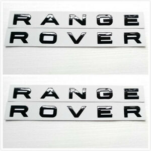 2x Black Range Rover Emblem Badges Sport Hse For Front Hood Or Rear Trunk New