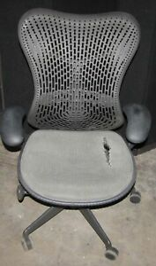 Herman Miller Mirra Adjustable Black Medium Chair For Parts repair hmk8