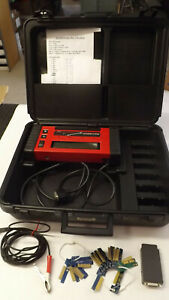 Snap On Mt2500 Diagnostic Scanner Case 2 Cartridges Cables Obd Ii And 20 Keys