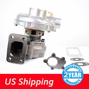 T3 T4 T04e 63a R Journal Turbo Charger Universal Upgrade 4 Bolt Inlet 5 Bolt Dp