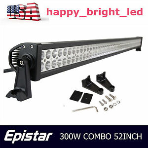 52 inch 300w Led Work Light Bar Flood Spot Combo Offroad Driving For Ford 50 54