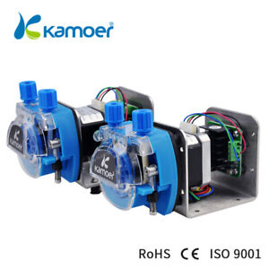 Kamoer Kcm odm 12v 24v Mini Peristaltic Pump Head With Tube Small Flow Stepper