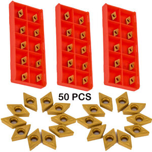 50pcs Dcmt0702 Dcmt070204 Ybc251 Inserts For Lathe Turning Tool Boring Bar Gt