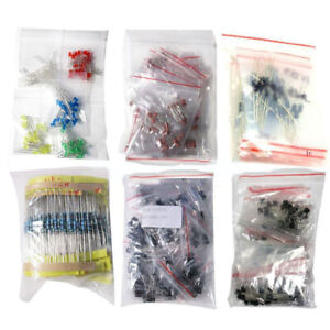 1390 Piece Electronic Components Led Diode Transistor Capacitors Resistance Kit