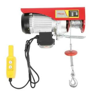 110v Electric Cable Hoist Crane Lift Garage Auto Shop Winch W remote Control