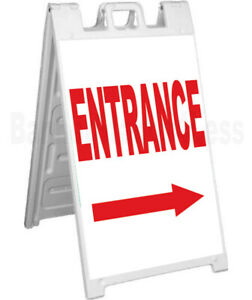 Entrance Double Sided Sign A frame Sidewalk Pavement Signicade Sign