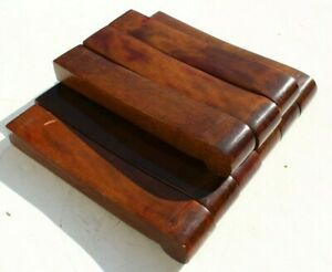 Vintage 1900s Lot Of 9 Wood Movie Theater Seat Chair Armrest