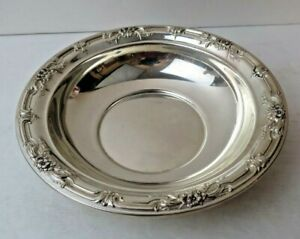 International Wild Rose B196 Sterling Silver Candy Dish Bowl 6 1 2 No Mono