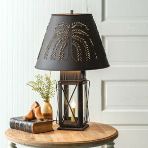 Milkhouse New Rustic Tin 3 Way Table Lamp W Willow Shade