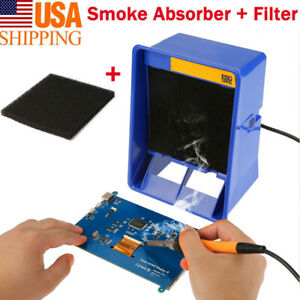 Smoke Solder Absorber Fan Fume Remover Carbon Filter Safe