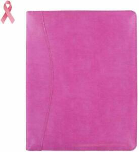 Leather Pink Padfolio Document Organizer With Proceeds To Support Greaterg