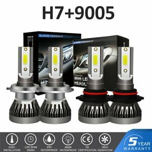 H7 9005 Led Headlight Bulbs Kit For Mazda 3 2007 2009 Mazda 6 2011 13 Hi Lo Beam