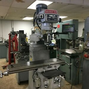 Seiki Model 2vs Variable Speed Vertical Mill With Dro 9 X 42 R8 New 2008