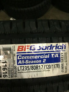 1 New Lt 235 80 17 Lre 10 Ply Bfgoodrich Commercial T a All Season 2 Tire