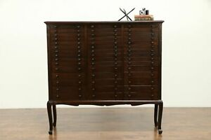 Mahogany Antique 45 Drawer File Collector Or Music Cabinet 31411