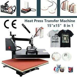 15 x15 8in1 Combo T shirt Heat Press Transfer Mug Plate Machine Multifunctional