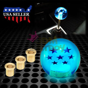 Universal Blue Dragon Ball Z 7 Star 54mm Shift Knob With Adapters Fit Most Cars