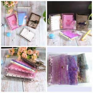 A5 a6 a7 Pvc Meteor Shower Cover Loose Leaf Ring Binder File Folder With Button