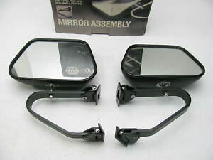 Pair 2 Napa 7573 Truck Van Side View Mirrors 6 25 X 9 5 Black