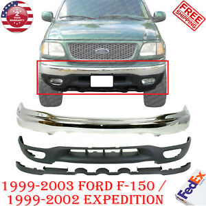 Front Bumper Chrome Lower Valance For 1999 2003 Ford F 150 99 02 Expedition